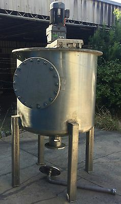 Stainless Steel Tank With Mixing Agitator,  1,300Lt Capacity
