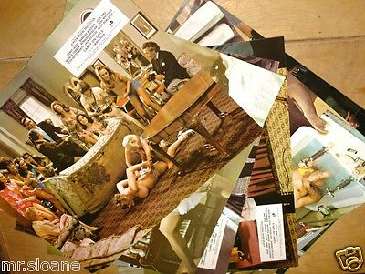 Carry On Girls Set Of 8 Official 1St Generation Uk Movie Lobby Cards 1973 Mint