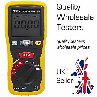 Insulation Tester Equiv: Continuity / Low Ohms / Megohm Meter AMECaL ST-5505