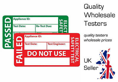AMECaL TL-108 Pack PAT Test Labels 500 Passed + 50 FREE Failed 49x25mm