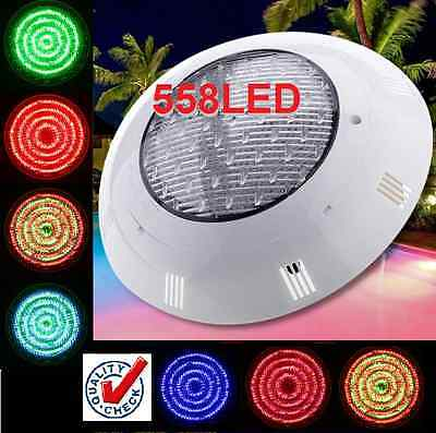 New* Powerfull 558 Led Swimming Pool Strong Light Rgb 7 Colour Remote Control