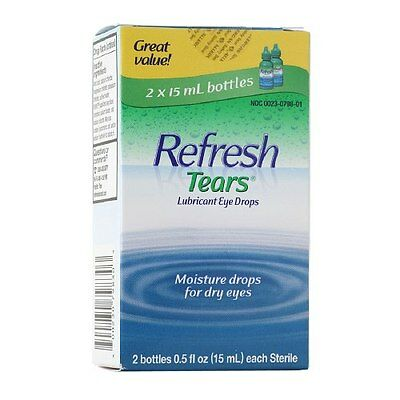 Refresh Tears Lubricant Eye Drops - Two 15 ml Bottles