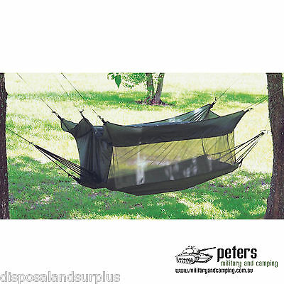 G.I. STYLE JUNGLE HAMMOCK BY FOX OUTDOORS PRODUCT 205 x 66 x46cm,BRAND NEW