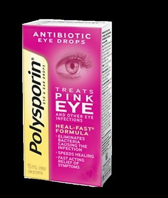 Polysporin Eye& Ear Drops 15 ML Pink Eye