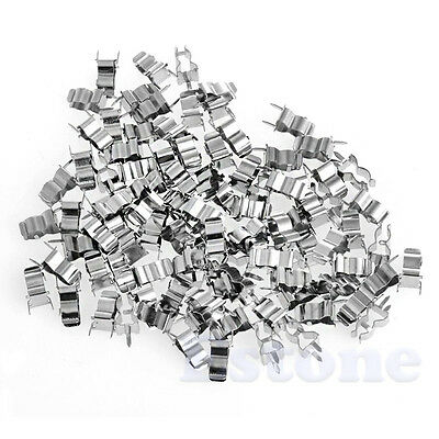 100Pcs Fuse Holder Clips 5*20mm Glass Quick Fast Blow Fuses Welding Holder