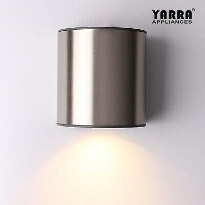 2-Pack Morden Stainless Steel Outdoor Wall Light Sconce Free GU10 Exterior Lamp