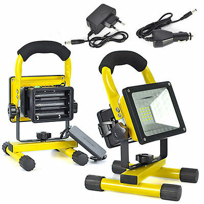 Rechargeable 30W 24LED Flood Light Camping Fishing Spot Work Night Lamp Powerful