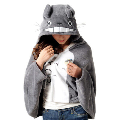 My Neighbor Totoro Plush Soft Cosplay Cloak Hoodie Party Halloween Gift Prop