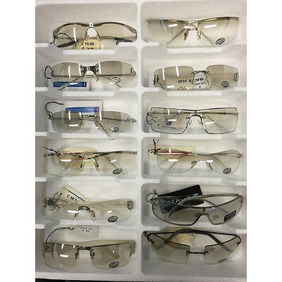 Wholesale Joblot 100 Assorted Clear Flash Mirror UV400 Sunglasses Various Styles