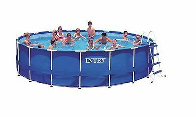 Frame Pool Komplett Set Rondo INTEX Stahl Rohr Rahmen Pool 549 x 122 cm