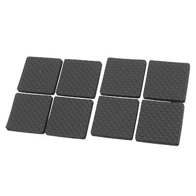 Black Protective Furniture Table Chair Foot Square Pad PK