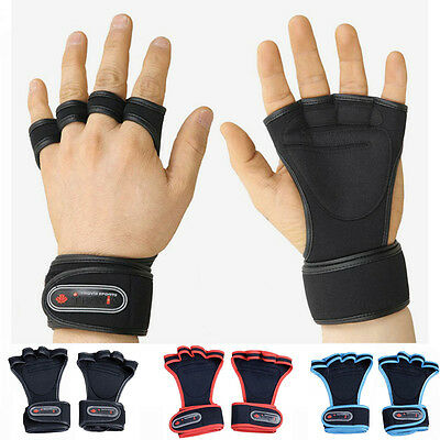Fitness Gloves Weight Lifting Gym Workout Training Wrist Wrap Strap Men / Women
