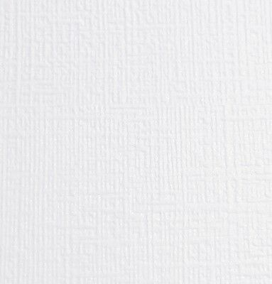 10 X A4 Card Dandy Bright White Linen Pattern Pearlescent Textured 300Gsm