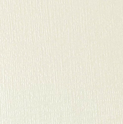 10 X A4 Card Ivory (Cotton White) Linen Embossed Pearlescent Textured 300Gsm