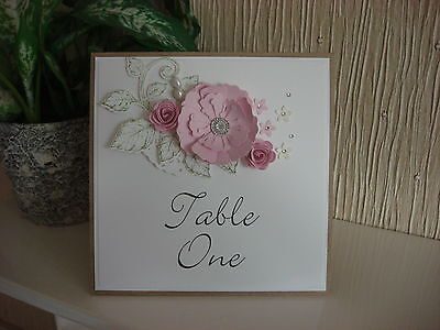 Personalised Wedding Table Number - Shabby Chic