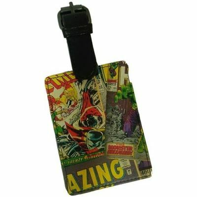 Marvel Comics Rectangular Luggage Tag with Zinc Alloy Badge - Official Licens...