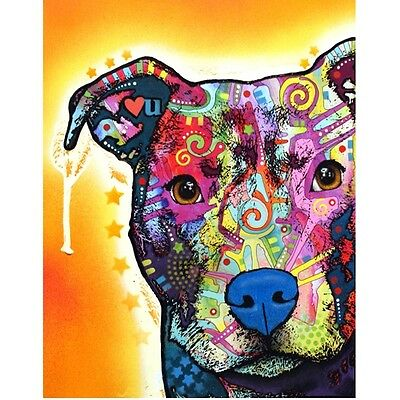 Heart U Pit Bull Print 8x10 by Dean Russo (DR0038x10)