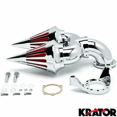 Chrome Dual Spike Air Cleaner Kits Intake Filter For Harley Davidson CV Carb