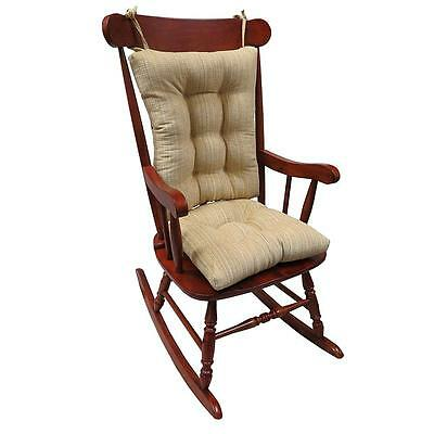XLarge Universal Rocking Chair Cushion Crushed Chenille NonSkid Woven Fabric Sad