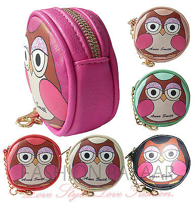 Womens Designer LYDC Anna Smith Cute Coin Purse Novelty Owl Keyring Chain Gift