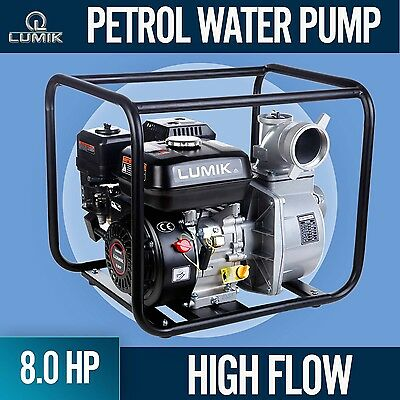 NEW 8HP Petrol Water Pump Transfer  High Flow Irrigation Fire Fighting 45000L/H