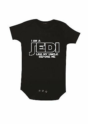 Star Wars, I am Jedi like my Uncle Baby Bodysuit, Uncle Baby Clothing, Newborn
