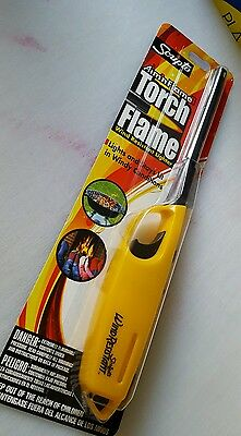 """Torch scripto wind resistant lighter lights & stays lit in windy conditions 12"""""""