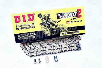 DID 520x120 Links DZ2 Offroad Series non-Oring Gold Chain