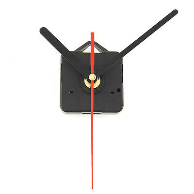 Quartz Practical Clock Movement Mechanism Parts Tools Set with Black & Red Hands