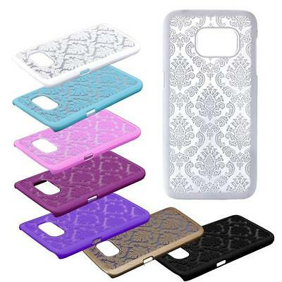 Carved Damask Vintage Pattern Hard Case Cover For Samsung Galaxy S7 & S7 Edge
