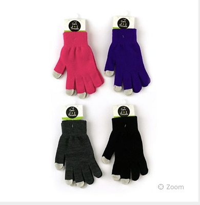 Woollen Gloves x 4 Pairs. Purple/Blue/Black/Pink  Free Post Superfast Delivery