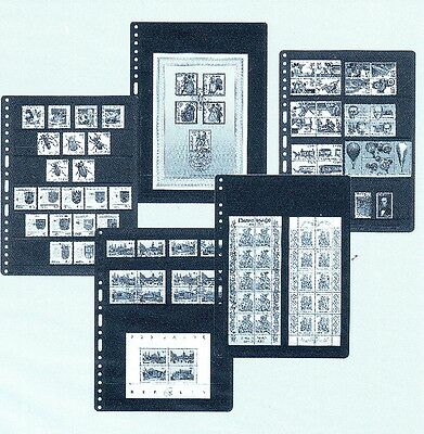 PRINZ 10 UNIVERSAL PUNCHING 5   ROWS DOUBLE SIDE SYSTEM STOCK SHEETS no stamps