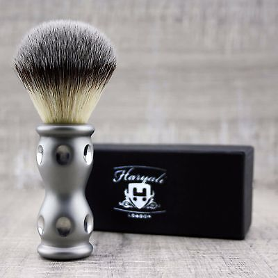 Synthetic Hair Shaving Brush Stainless Steel Handle with Classical Box Presant