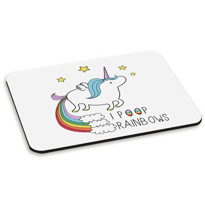 UNICORN I POOP RAINBOWS PC COMPUTER MOUSE MAT PAD Funny Novelty Magical Glitter