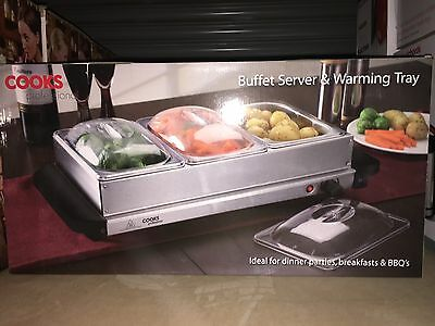 Cooks Professional Three-Section Buffet Warming Trays