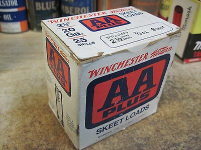 WINCHESTER WESTERN DOUBLE A SKEET LOAD shot shell shotgun empty BOX 20GA ORIGINA