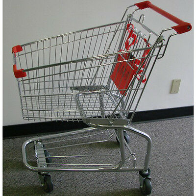 4.2 Cubic FT Chrome with Red Shopping Cart