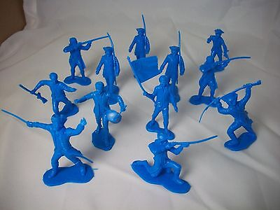 Marx reissue Revolutionary War Colonial Toy Soldiers 1/32 scale, 12 in 9 poses