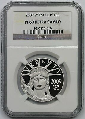 2009-W Statue of Liberty One-Ounce Platinum Eagle $100 PF 69 Ultra Cam NGC 1 oz