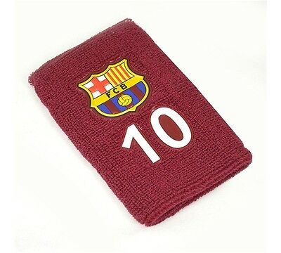 FC Barcelona Wristband 10 Messi Large Official FCB Football Club Wrist Band New