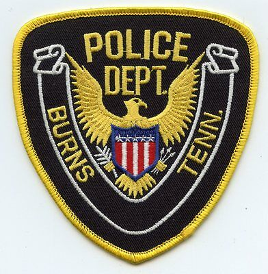 Burns Tennessee Tn Police Patch