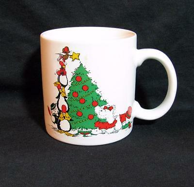 Dayton-Hudson TOP-HAT SANTA BEAR & Friends XMAS TREE mug NEW 1988 XX-RARE!