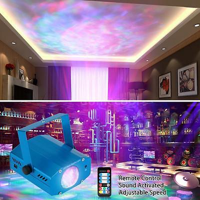 LIXADA 10W Color Changing Mini LED Water Wave Ripple Effect Stage Light Hot P5F9