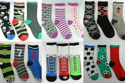 6 Pairs Boys Children's Kids Socks Designer Character All Sizes