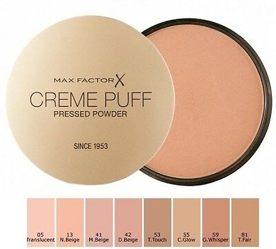 Max Factor Creme Puff pressed powder matt finish World Wide FREE Post
