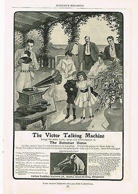1902 Victor Talking Machine Music Entertainment Chas & Baker Piano Player Ad