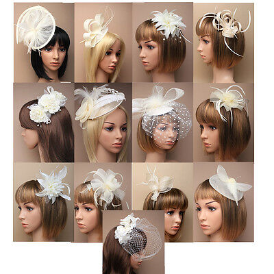 Cream Fascinator on Headband/ Clip-in for Weddings, Races and Occasions