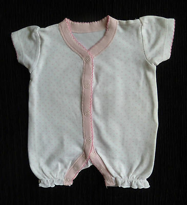 Baby clothes GIRL newborn 0-1m white/pink heart George Cotton romper SEE SHOP!