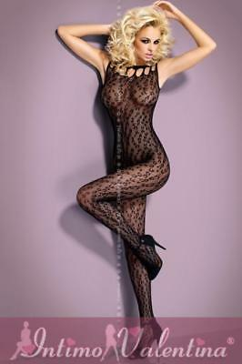 Bodystocking decorata  aperta all'inguine - ref OB8935