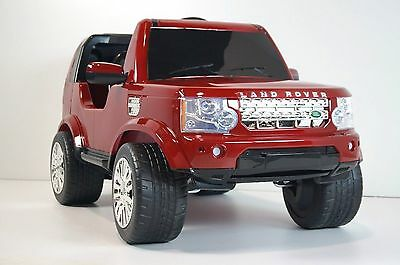 Land Rover Discovery Licensed Ride On Toy Car Remote Control 12V  Battery Red